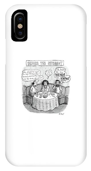 Three Late-middle Aged People Sitting IPhone Case