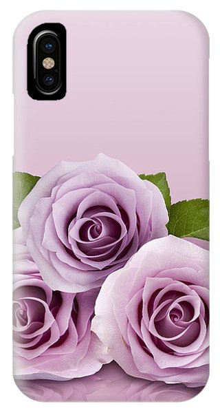 Three Lilac Roses IPhone Case