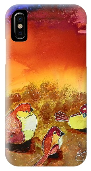 Three Little Birdies IPhone Case