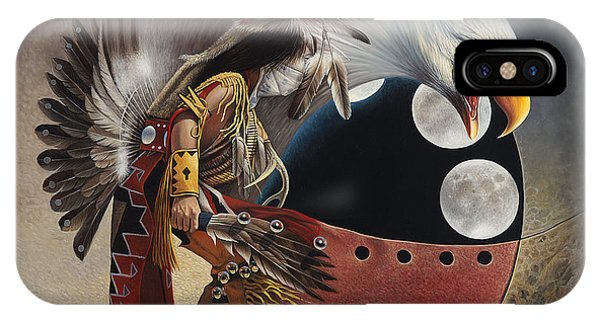 Three Moon Eagle IPhone Case