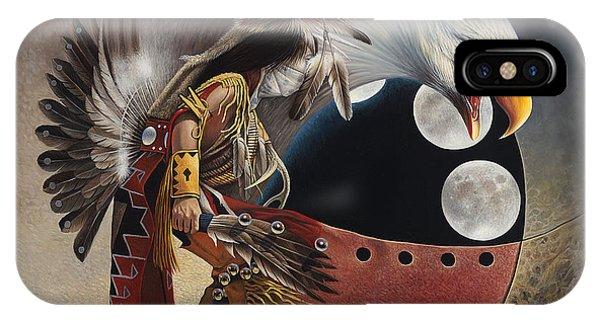 Three Moon Eagle IPhone Case