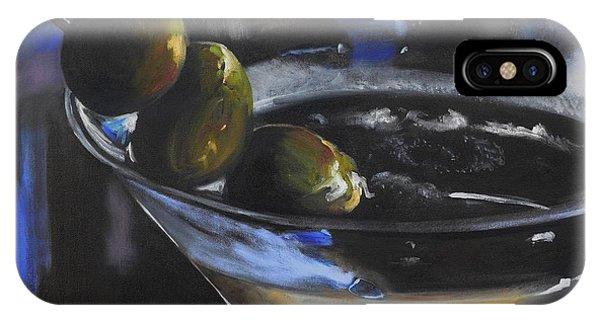 Martini iPhone Case - Three Olive Martini by Donna Tuten