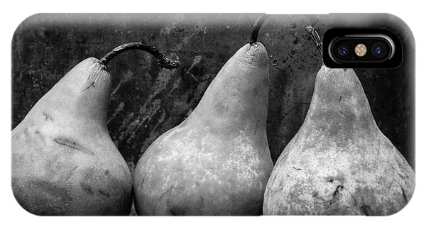 Edward iPhone Case - Three Pear Still Life Black And White by Edward Fielding