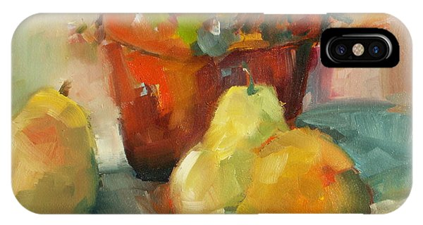 Three Pears And A Pot IPhone Case