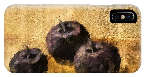 Three Plums Still Life IPhone Case