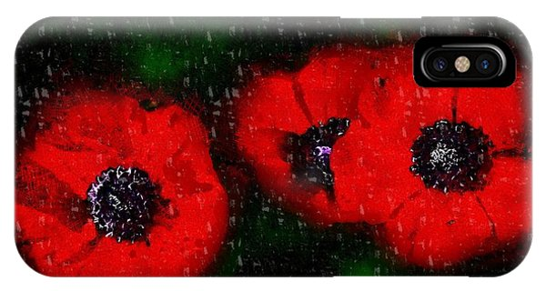 Three Poppies IPhone Case