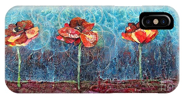 Scarlet iPhone Case - Three Poppies by Shadia Derbyshire