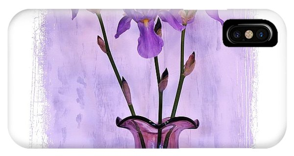 Three Purple Irises IPhone Case
