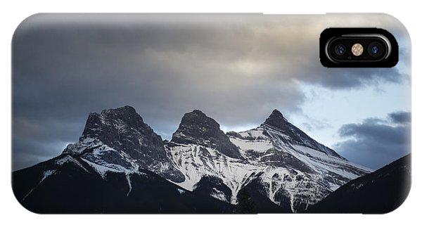 Banff iPhone Case - Three Sisters by Evelina Kremsdorf