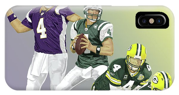 Three Stages Of Bret Favre IPhone Case
