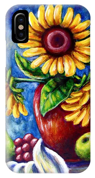 Three Sunflowers And A Pear IPhone Case