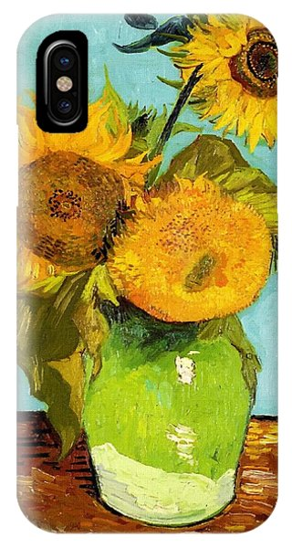 Three Sunflowers In A Vase IPhone Case