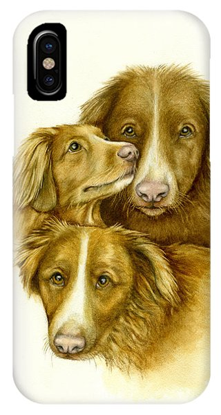 Three Toller Dogs IPhone Case