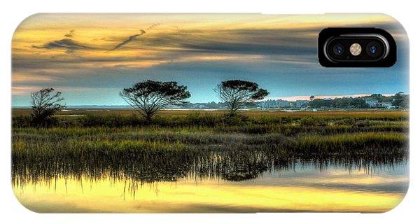 Three Tree Sunset IPhone Case