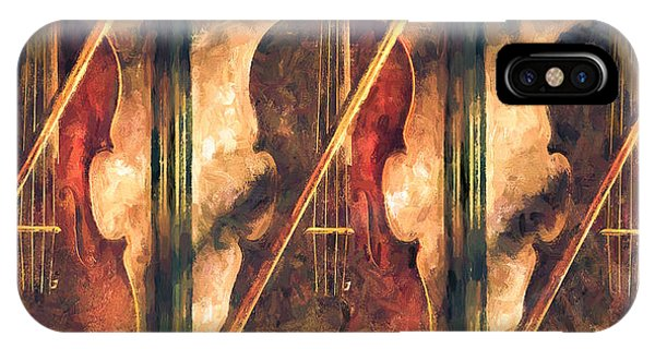 Relaxation iPhone Case - Three Violins by Bob Orsillo