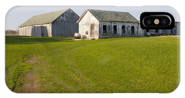 Three Weathered Farm Buildings IPhone Case