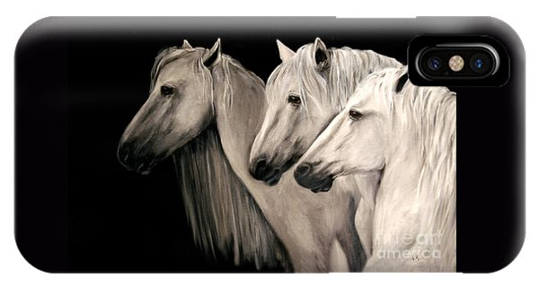 Three White Horses IPhone Case