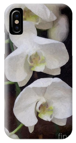 Three  White Orchids IPhone Case
