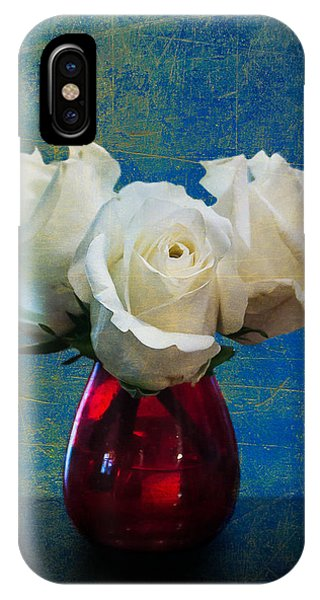 Three White Roses IPhone Case
