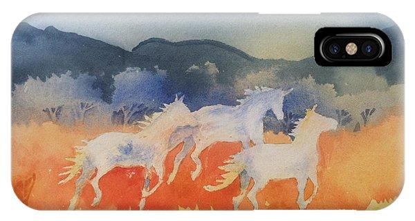 Three Wild Horses IPhone Case