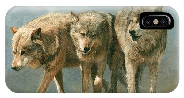 Three Wolves IPhone Case