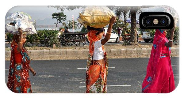 Three Women Carry Bundles Jaipur Rajasthan India IPhone Case