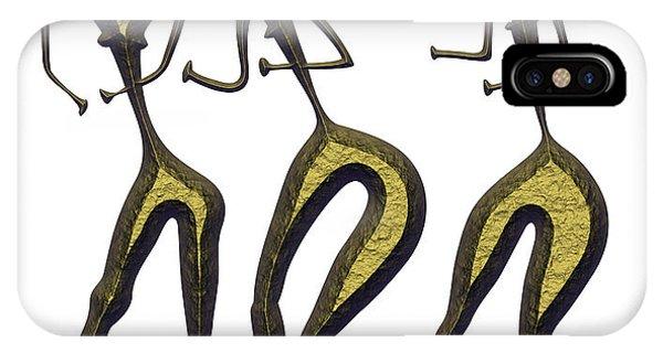 Simple iPhone Case - Three Women - Primitive Art by Michal Boubin
