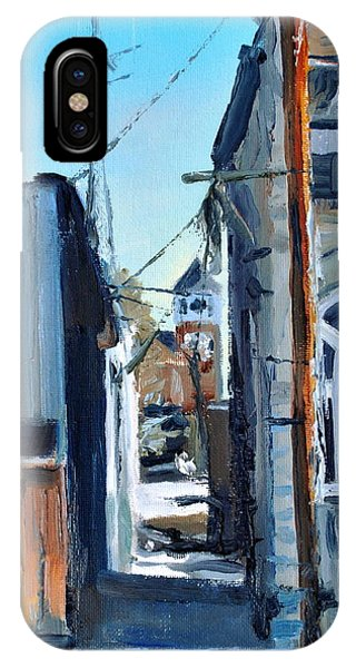 Courthouse iPhone Case - Through The Alley by Spencer Meagher