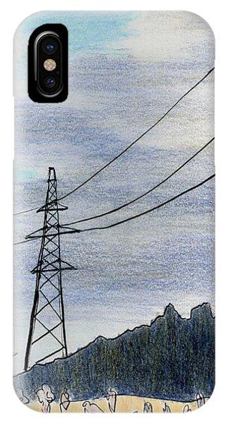 Through The Hole In The Sky Phone Case by Lelia Sorokina