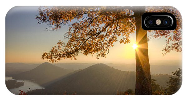 Chilhowee iPhone Case - Through The Trees by Debra and Dave Vanderlaan
