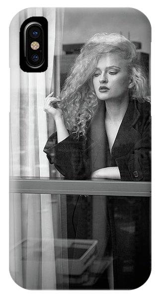 Hair iPhone Case - Through The Window by Mel Brackstone