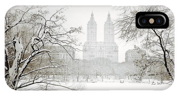 Winter iPhone Case - Through Winter Trees - Central Park - New York City by Vivienne Gucwa