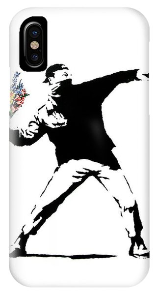 Valentines Day iPhone Case - Throwing Love by Munir Alawi