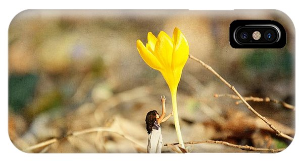 Thumbelina And The Crocus IPhone Case