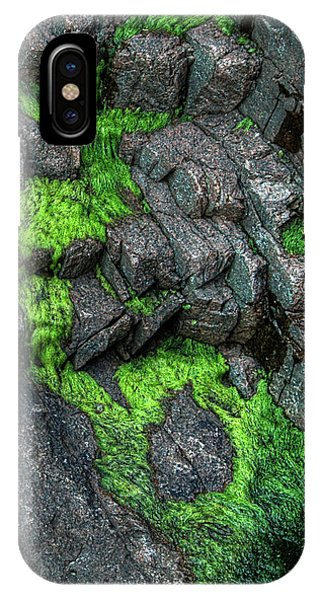 IPhone Case featuring the photograph Thunder Hole Algae by Michael Kirk