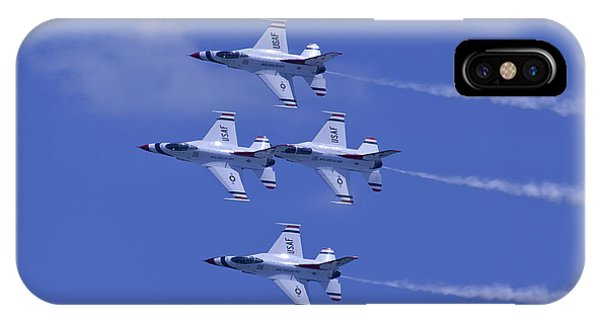 Thunderbirds Diamond Formation Topsides IPhone Case