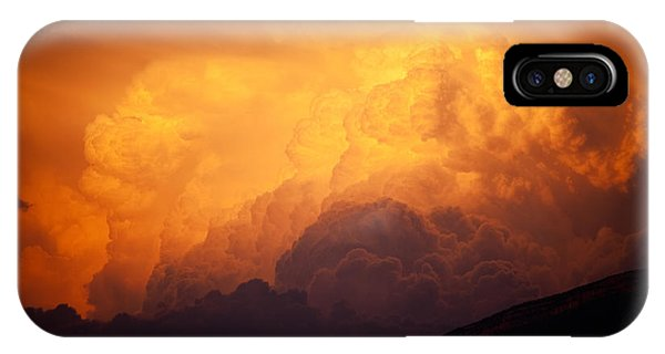 IPhone Case featuring the photograph Thunderhead At Sunset by Brad Brizek