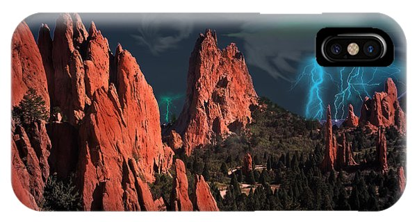 Thunderstorm At Garden Of The Gods IPhone Case
