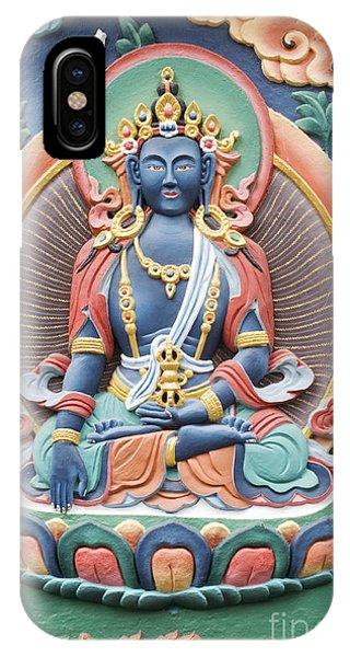 Tibetan Buddhist Temple Deity Phone Case by Tim Gainey