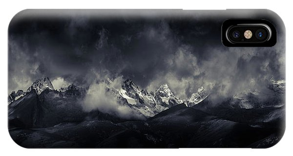 Panorama iPhone Case - Tibetan Land Devildoma??ae??a??ae??e??a?? by Qiye????
