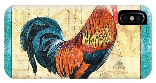 Rooster iPhone Case - Tiffany Rooster 1 by Debbie DeWitt