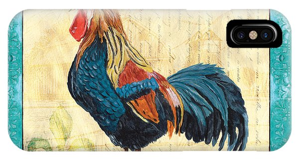 Fowl iPhone Case - Tiffany Rooster 2 by Debbie DeWitt