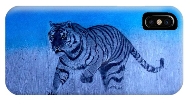 Tiger And Blue Sky IPhone Case