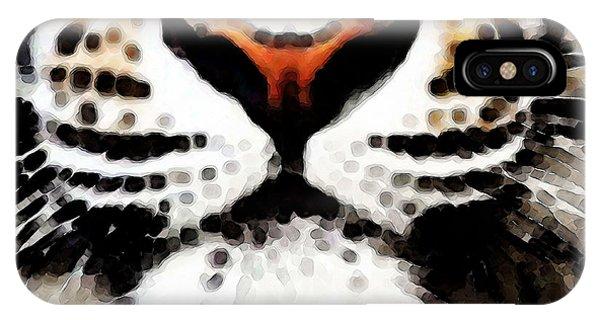 Alabama iPhone Case - Tiger Art - Burning Bright by Sharon Cummings