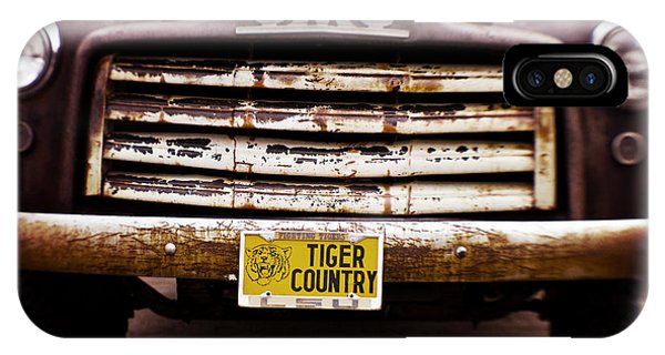 Baton Rouge iPhone Case - Tiger Country - Purple And Old by Scott Pellegrin