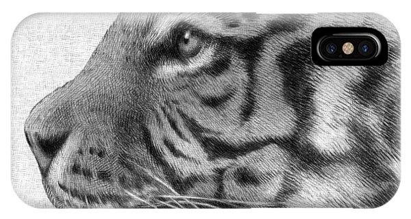 Big Cat iPhone Case - Tiger by Eric Fan