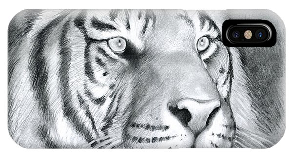Tiger iPhone Case - Tiger by Greg Joens