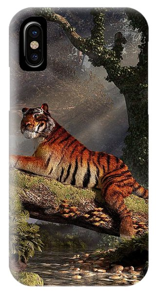 Tiger On A Log IPhone Case