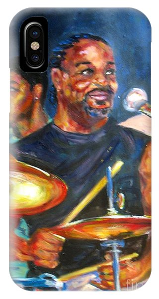 Tiger On Drums IPhone Case