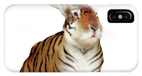 Hybrid iPhone Case - Tiger-rabbit by Smetek/science Photo Library